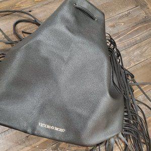 Victoria's Secret, Black Leather, Backpack Purse